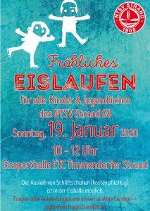 Fröhliches Eislaufen für alle  Kinder & Jugendlichen des NTSV Strand 08 @ Eissporthalle ETC Timmendorfer Strand