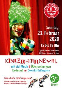 Kinderfasching des NTSV Strand 08 in der Niendorfer Sporthalle @ Sporthalle Niendorf/Ostsee