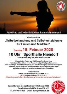 Selbstverteidigungskurs für Frauen & Mädchen @ Sporthalle Niendorf/Ostsee